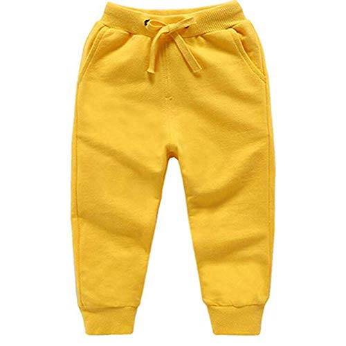 (HAXICO Unisex Kids Solid Cotton Drawstring Waist Winter Pants Toddler Baby Bottoms Active Sweatpants)