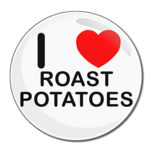 I Love Roast Potatoes - 77mm Round Compact Mirror