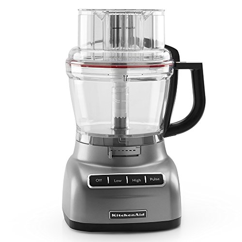 KitchenAid Food Processor with ExactSlice System RKFP1330CU, 13-Cup, Contour Silver, (Certified Refurbished)