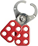 Brady Steel Lockout Hasp with Vinyl-Coated Handle, 1'' Inside Jaw Diameter (Pack of 12)