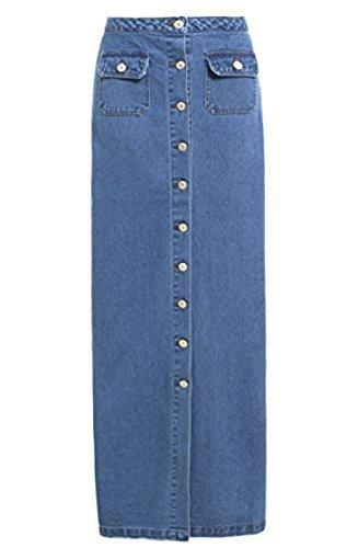 SS7 NEUF Femmes Jeans Maxi jupe , jeans bleu, Tailles 8 pour 16 Bleu Jean