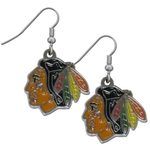 - NHL Chicago Blackhawks Dangle Earrings