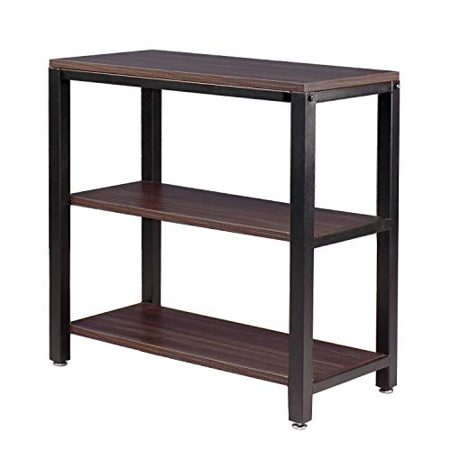 OROPY Industrial 3-Tier Sofa Table, Long Console Table with Storage Shelves, Heavy Duty Coffee Tables for Living-Room and Bedroom, 23.6 L 11.8 W 23.6 H