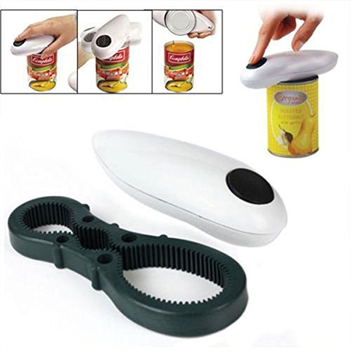 Lily.N,One Touch Automatic Electric Tin Can Opener Bottle Tin Can Open Tool Kitchen US (Snowblower Battery Operated)