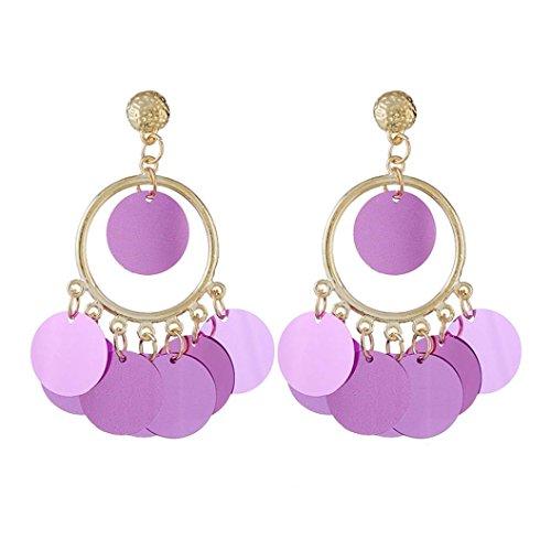 Jade Beautiful Purple Pendant (Longay Women's Squiens Shining Ornaments Pendant Earrings Ear Studs Drop Long Dangle (Purple))