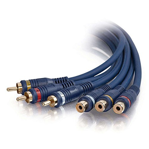 C2G/Cables to Go 29324 Velocity RCA Audio/Video Extension Cable (12 Feet, Blue)