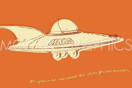 Lunastrella Flying Saucer Art Print Art Poster Print by John Golden, -