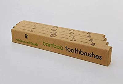 Citizens of Earth Eco Friendly Bamboo Toothbrushes 4 Count