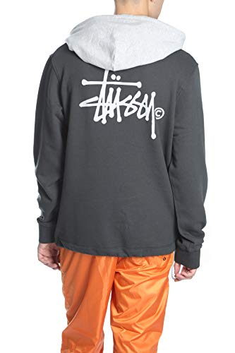 Stussy Black grey Two Tone Hoodie xnqwAq0p7g