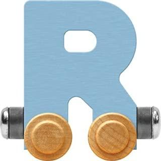product image for Maple Landmark NameTrain Pastel Letter Car R - Made in USA (Blue)