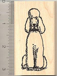 Standard Poodle Dog Rubber Stamp - Wood - Dog Stamp Wood Rubber