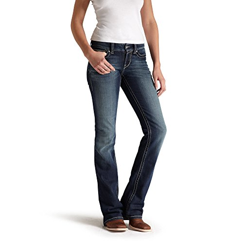 Ariat Women's R.E.A.L. Riding Mid Rise Boot Cut Jean, Spitfi