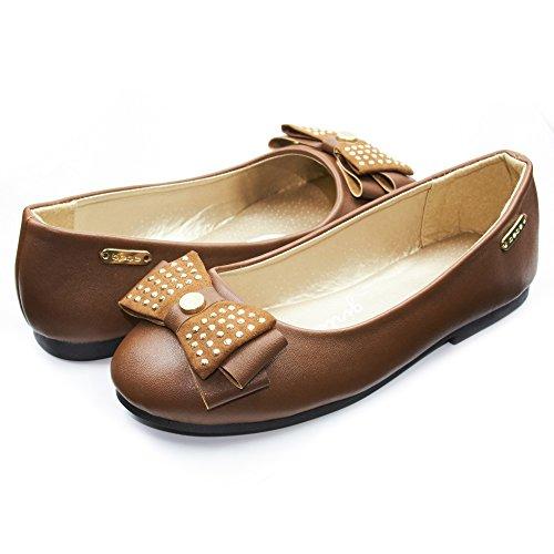 Girls Brown Dress Shoes - 1