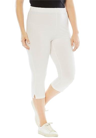 3ad966964c7 Roamans Women s Plus Size Stretch Capri Leggings