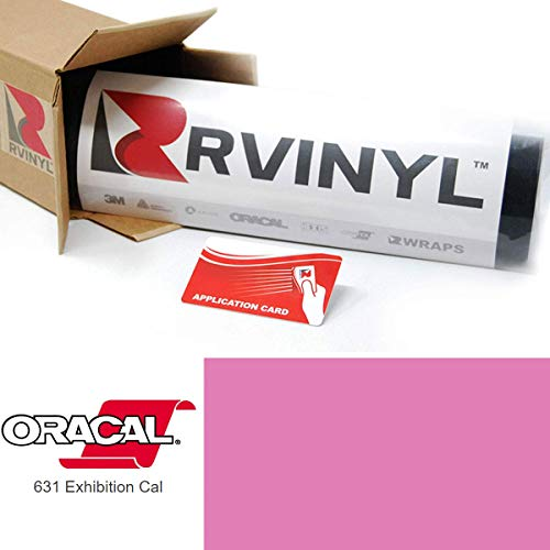 ORACAL 631 Bubble Gum 428 Exhibition Calendered Film 2ft x 4ft W/Application Card Vinyl Film Sheet Roll - for Cricut, Silhouette Cameo, Craft and Sign Cutters ()