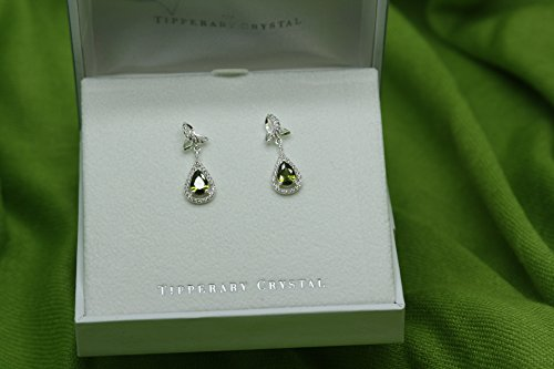 Maureen O'Hara Irish Jewelry Silver Plated Trinity Knot Earrings By Tipperary Crystal