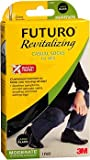 Futuro Revitalizing Casual Crew Socks for Men Large Black Moderate Compression - 1 pr, Pack of 5
