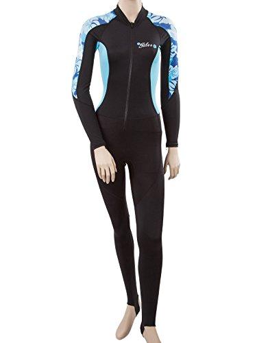 Tilos Womens Lycra Dive Skin Bodysuit XL Blue flowers (Dive Skin)