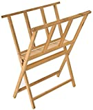 Displays2go Beech Wood Print Rack for Artwork Storage, X-Frame Design