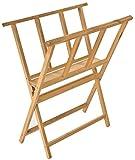 Arts & Crafts : Displays2go Beech Wood Print Rack for Artwork Storage, X-Frame Design