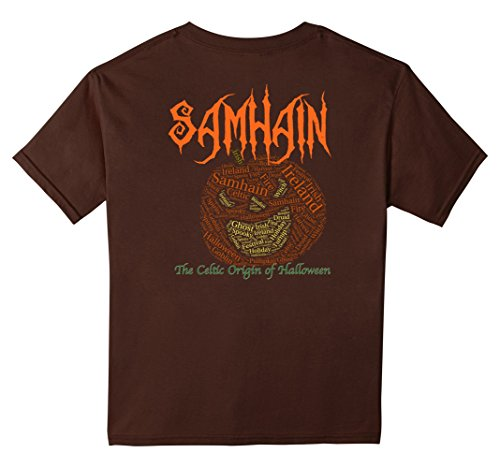 Samhain The Celtic Origin of Halloween Pumpkinhead T-shirt - Kids 10 - Brown