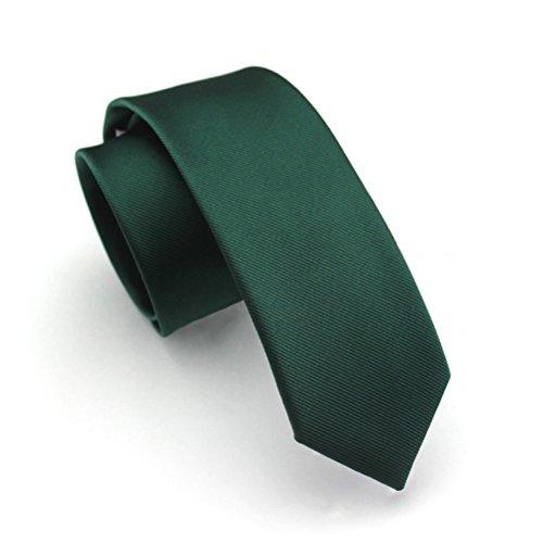Elviros Mens Eco-friendly Fashion Solid Color Slim Tie 3.15'' -