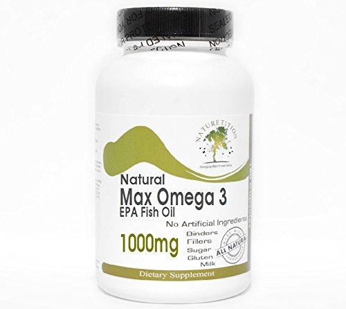 Natural Max Omega 3 EPA Fish Oil 1000mg ~ 200 Capsules - No