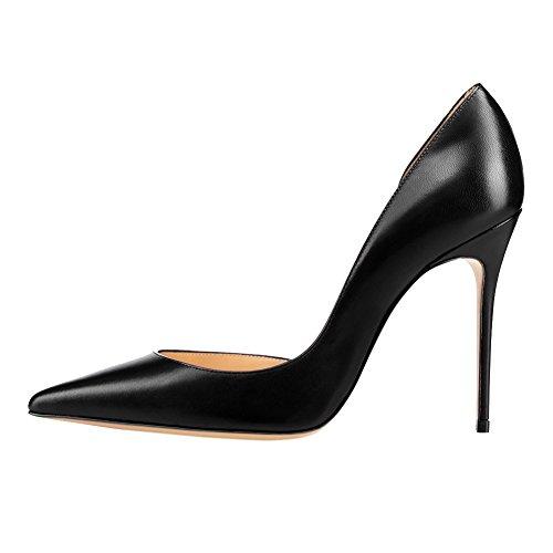 MERUMOTE - Zapatos de tacón fino Mujer negro mate