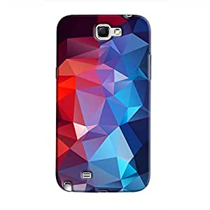 Cover It Up - Blue and Red Pixel Triangles Samsung Galaxy Note 2 N7100 Hard Case