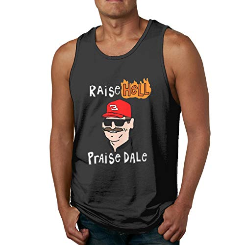 Moore Me Men's Sleeveless Tank Top Shirts Gray Raise Hell Praise Dale Cotton Gym Vest Casual Sport T-Shirts
