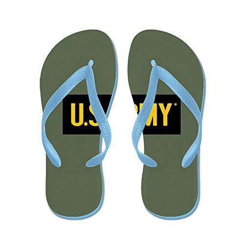 CafePress - U.S. Army: Vintage (OG) - Flip Flops, Funny Thong Sandals, Beach Sandals Caribbean Blue