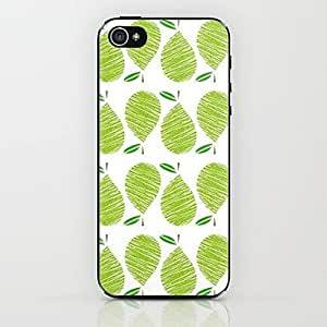 GONGXI Green Pears Pattern Hard Case for iPhone 5/5S