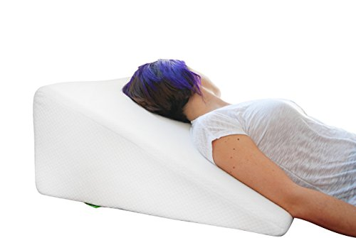 Bed Wedge Pillow with Memory Foam Top by Cushy Form - Best for Sleeping, Reading, Rest or Elevation - Breathable and Washable Cover (12 Inch Wedge, - System Leg Wedge