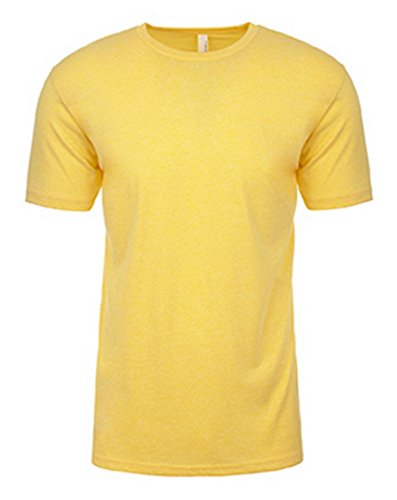 Next Level Apparel N6210 Mens Premium CVC Crew - Banana Cream, Large (Cotton Yellow Canvas)