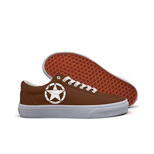 VCERTHDF Army Star WWII Distressed (2) Fashion Footwear Shoe Women ()