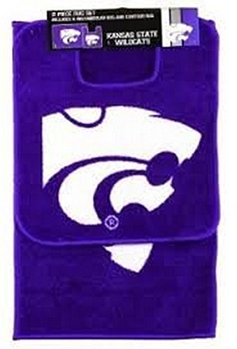 The Northwest Company NCAA Officially Licensed Two (2) Piece Bathroom Rug Set (Kansas State Wildcats)