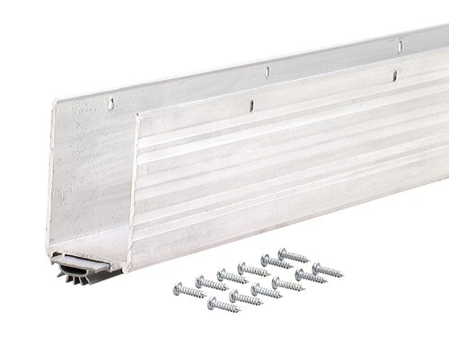 M-D Building Products 68593 1-3/4x36-Inch Aluminum Weatherstrip Door Bottom with Mill/Vinyl Finish (Best Finish For Exterior Wood Threshold)