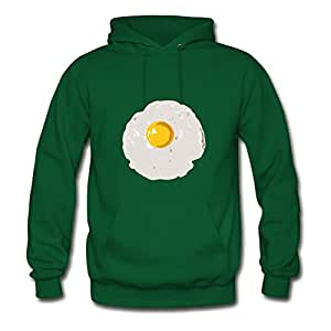 Sunny Side Up Styling X-large Hoodies Women Cotton For Green