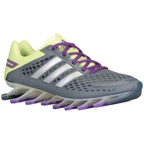 adidas Springblade Razor Women's Running Shoes Size US 9, Regular Width, Color Gray/Lime/Silver (Shoes Blade Adidas)