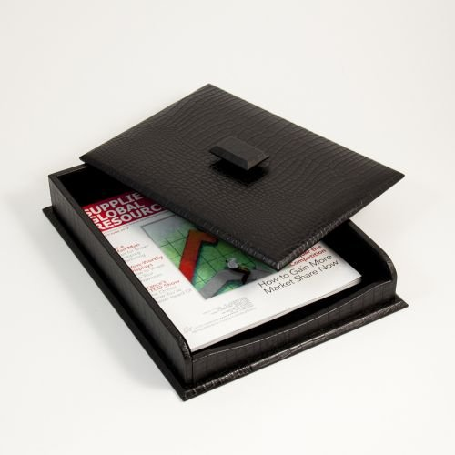 Letter Tray w/Cover, Black