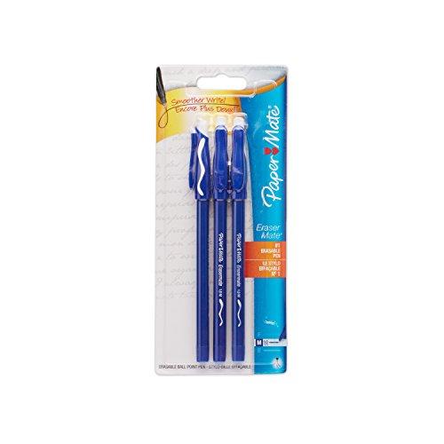 Sanford Papermate Erasermate Ballpoint PEN With Bonus, Blue - 3 EA / Pack, 6 Packs