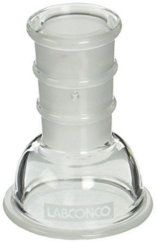 Labconco 7552000 Borosilicate Glass Lyph-Lock Flask Top for 25ml and 50ml Flasks, 19/38 Standard Taper ()