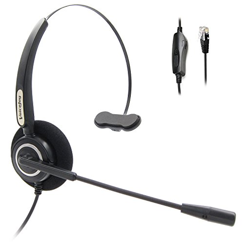 - Volume Adjuster and Mute Switch Headset Office Monaural Headset with Microphone RJ9 Plug for Cisco IP Phones 794X 796X 797X 69XX Series and 8811,8841,8851,8861,8941,8945,8961,9951,9971 etc