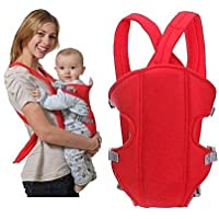 Inditradition Multi-Functional Front Baby Carrier   Ideal for Kids 0 to 3 Years   Soft Cushion, Adjustable Straps (Red)