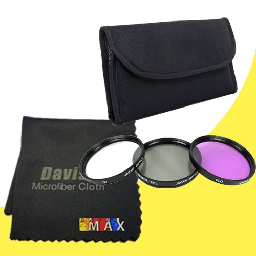 52mm 3 Piece Filter Kit for Nikon D3200 with Nikon 18-55mm L