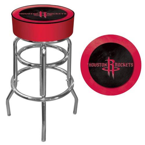 - NBA Houston Rockets Padded Swivel Bar Stool