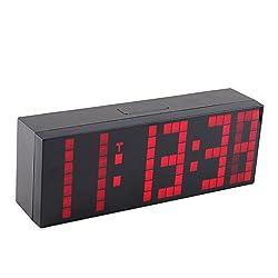 Purewill Lattice LED Digital Alarm / Countdown/Up Clock Display Brightness Can Be Adjusted