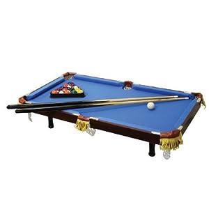 Executive Tabletop Billiard Pool Table   Real Wood, Real Felt   Blue