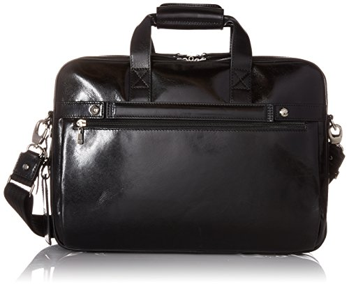 [Bosca Old Leather Collection - Stringer Bag Laptop Bag Black Leather] (Bosca Bag)