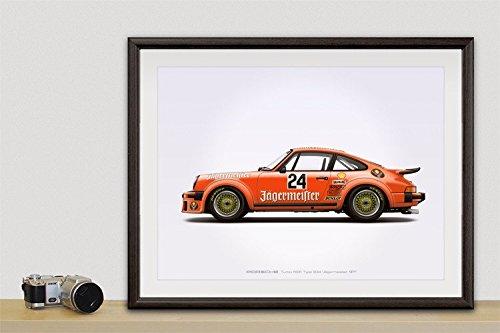 GarageProject101 Porsche Turbo RSR Type 934 Jagermeister Poster - Jagermeister Poster